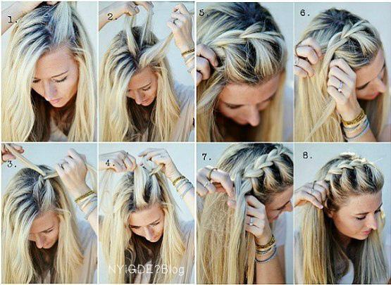 Красивые прически для средних волос своими руками 11
