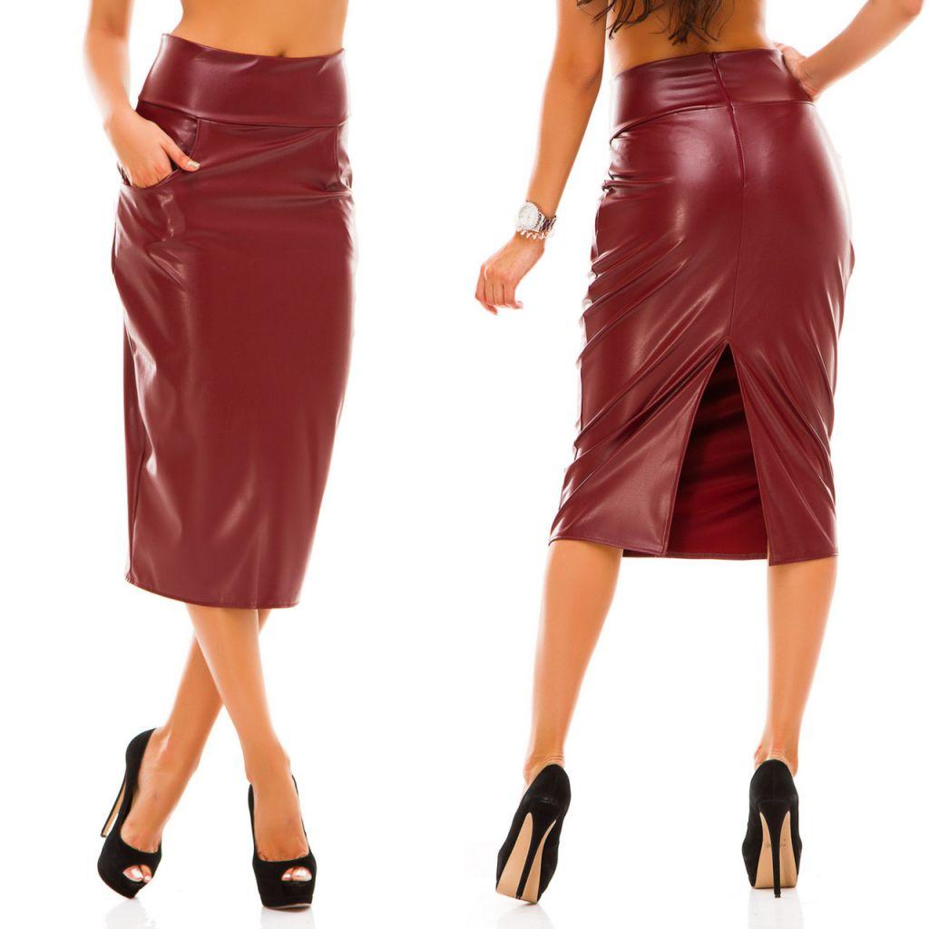 Модели кожаных юбок фото
